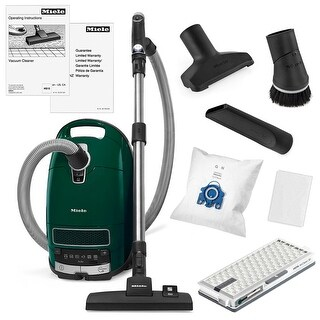 Miele Complete C3 Alize Canister Vacuum Cleaner + SBD 285-3 Combo Tool + Crevice Tool + Upholstery Tool + Dusting Brush + More