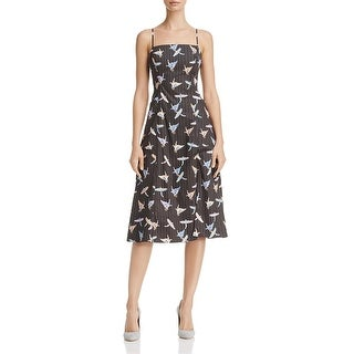 Free People Womens Black Sunshine of Your Love Sundress Printed A-Line