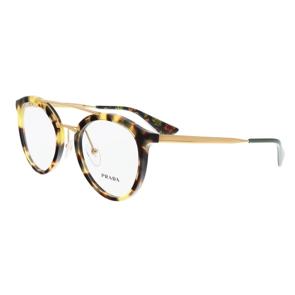 e6830c7fc4 Prada PR 15TV 7S01O1 Medium Havana Round Phantos Optical Frames - medium  havana - 50-