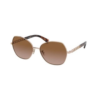 Link to Coach HC7112 933113 56 Shiny Rose Gold Woman Irregular Sunglasses Similar Items in Women's Sunglasses