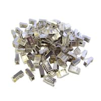 Shielded Cat6 RJ45 Crimp Connectors for Stranded Cable, 8P8C, 100 Pieces