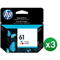 HP CH562WN#140 (3-Pack) HP 61 Ink Cartridge - Cyan, Magenta, Yellow - Cyan, Magenta, Yellow - Inkjet