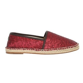 Dolce & Gabbana Dolce & Gabbana Red Sequined Logo Loafers Espadrilles - eu44-us11