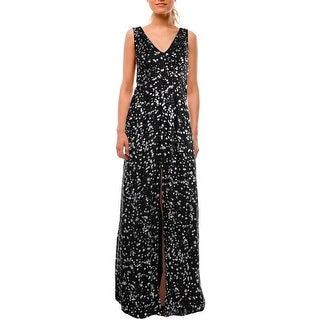 Parker Womens Evening Dress Front Slit Lined