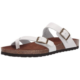 Shop Women S White Mountain Carly Red Leather Free