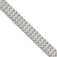 Chisel Stainless Steel Polished Fancy Link Bracelet