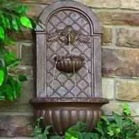 Sunnydaze Venetian Solar Outdoor Wall Fountain - Multiple Colors Available