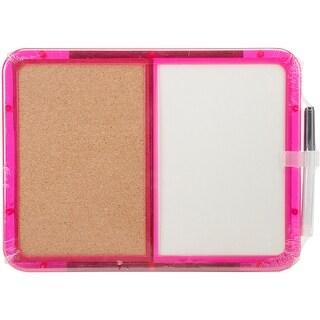 """Memo Board 8.25""""X11.25""""-Half Cork & Half Dry-Erase"""