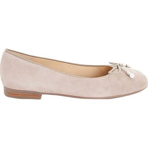 ara Women's Scout 31324 Ballet Flat Taupe Samtchevro Suede