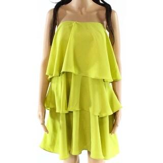 Endless Rose NEW Green Womens Size Medium M Tiered Chiffon Shift Dress