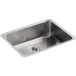 """Kohler K-3332  Undertone 23"""" Single Basin Under-Mount 18-Gauge Stainless Steel Kitchen Sink with SilentShield - Stainless Steel"""