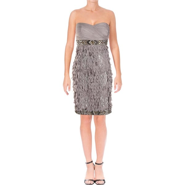 026c269bbe8 Shop Sue Wong Womens Cocktail Dress Embellished Lined - 2 - Free ...
