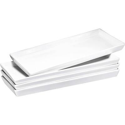 Bruntmor Ceramic Platter Trays – High-Grade Porcelain, Safe for Dishwasher, Microwave, and Freezer