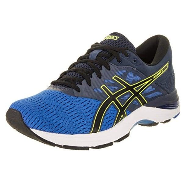 9ac42b6b0b7 Asics Gel-Flux 5 Directoire Blue/Black/Safety Yellow Men's Running Shoes,  Size 10.5