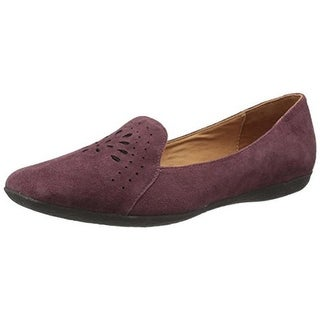 Gentle Souls Womens Erica Suede Cut-Out Smoking Loafers
