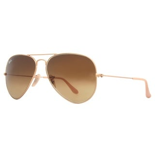 RAY-BAN Aviator RB 3025 Unisex 112/85 Gold Brown Sunglasses - 55mm-14mm-135mm