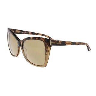 Tom Ford FT0295/S 53J Carli Tortoise Gradient Square Sunglasses- Oversized Fit - tortoise gradient