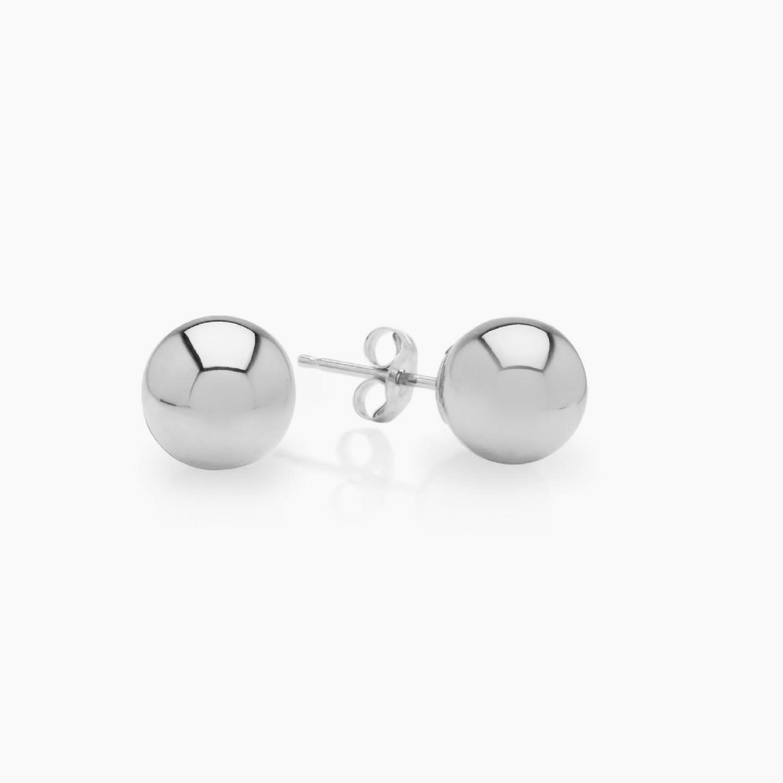 Sterling Ball Earrings 14 pairs 3mm-6mm