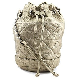 Wild Pair Quilted Bucket Synthetic Messenger - Gold
