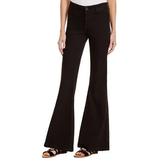 Free People Womens Jolene Flare Jeans Stretch High Rise