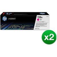 HP 128A Magenta Original LaserJet Toner Cartridge (CE323A)(2-Pack)