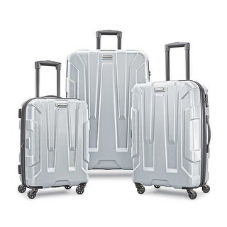 Samsonite Centric 3 Piece Expandable Hardside Spinner Luggage Set, Silver