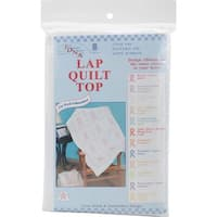 "Stamped White Lap Quilt Top 40""X60""-Ribbons"