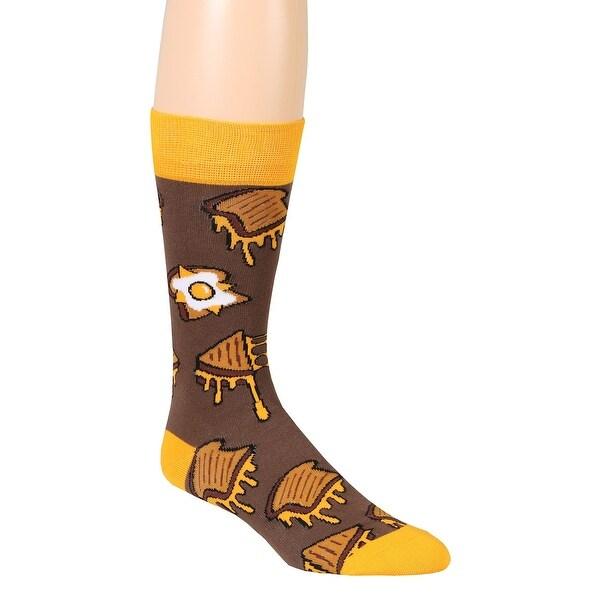 Grilled Cheese Print Crew Socks