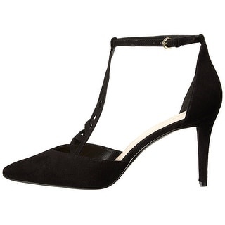 Nine West Womens Primadona Leather Pointed Toe Ankle Strap D-orsay Pumps