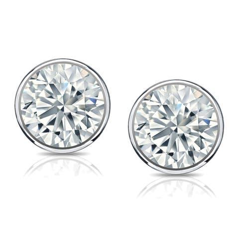 18k Gold 1ct TDW Lab Grown Diamond Stud Earrings by Ethical Sparkle