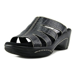 Rialto Velocity Women Open Toe Leather Black Sandals