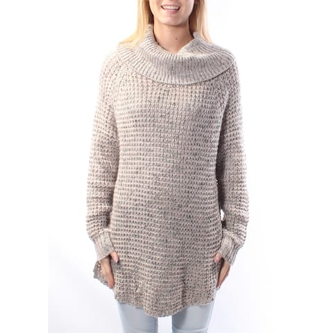 AMERICAN RAG Womens Gray Speckle Long Sleeve Cowl Neck Sweater Size: 2XS