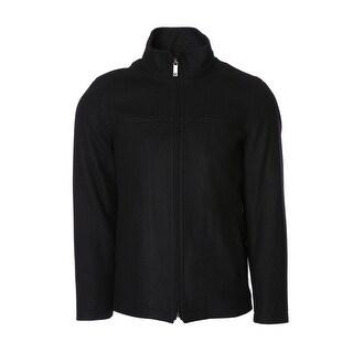 Perry Ellis Wool Open Bottom Coat