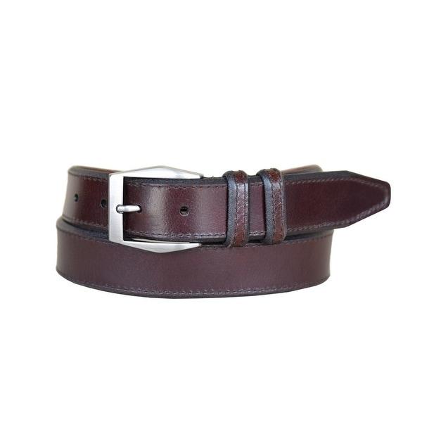 Lejon Western Belt Mens Corporate Leather Mahogany