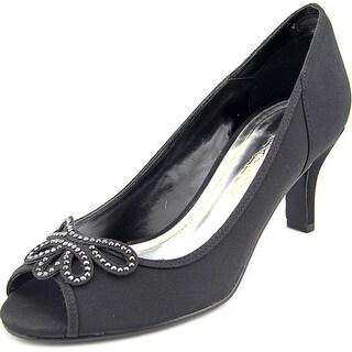 Caparros Watsons Women Open-Toe Canvas Black Heels