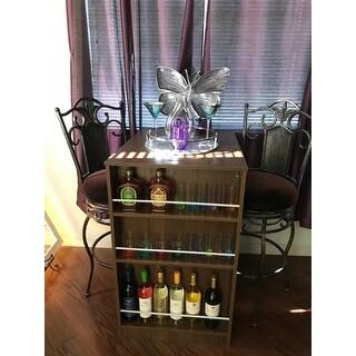 Boahaus Stylish Bar Table with Wine Storage