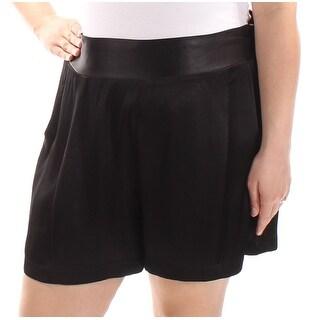 1. STATE Womens New 1006 Black Wide Leg Casual Short XL B+B