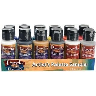 DecoArt Traditions Acrylic Paints 1oz 12/Pkg-Artist's Palette Sampler
