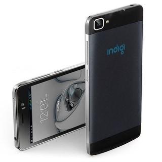 Indigi® Factory Unlocked 3G V19 SmartPhone 5.5inch HD Android 4.4 KitKat Dual-Core Dual-Sim Smartphone (Black) - Black