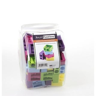 Baumgartens Ridge Pencil Sharpener Double Hole ASSORTED Colors (17110)
