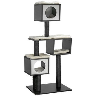 "Multi-level Cat Activity Tree Cat Condo - Black (52"" x 24"")"