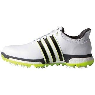 Adidas Men's Tour 360 Boost FTWR White/Core Black/Solar Yellow Golf Shoes F33251