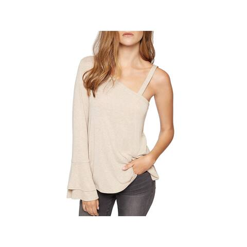 Sanctuary Womens Anisa Casual Top Knit Ribbed Trim