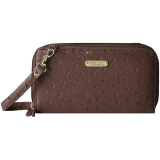 Buxton Womens Ostrich Brights Ultimate Clutch Handbag Faux Leather - Small (3 options available)