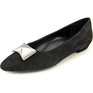Vaneli Gaenor Women Pointed Toe Suede Black Flats