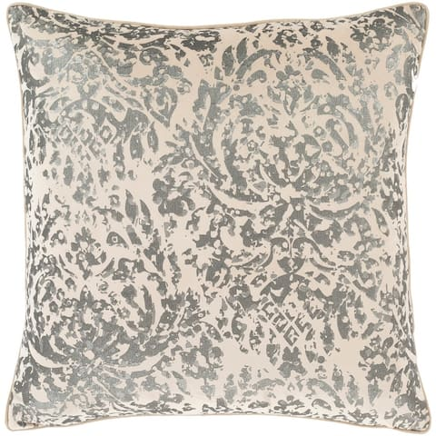 Silver Orchid Barriscale 18-inch Throw Pillow Cover
