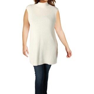Lauren Ralph Lauren Womens Tank Top Sweater Ribbed Knit Mock Turtleneck