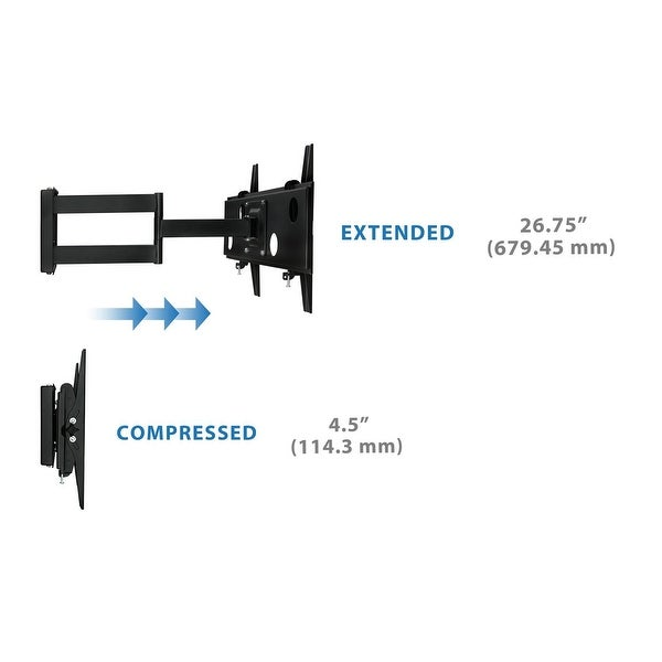 """Full Motion Articulating Swing Out Arm For 32-60/"""" Flat Screens Mount-It"""