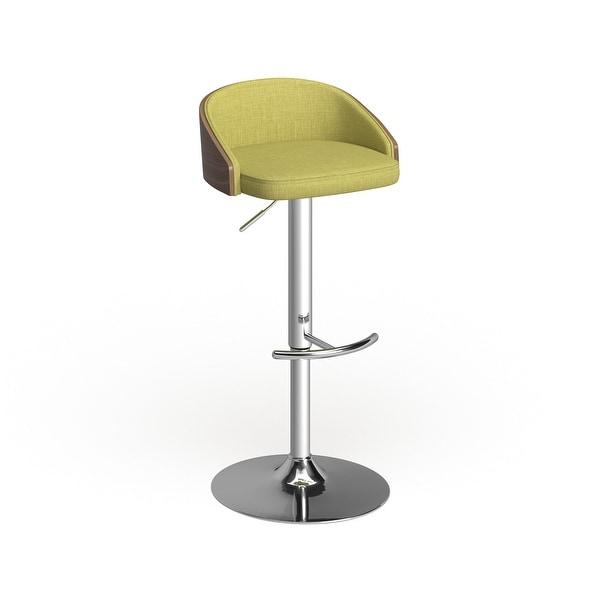 Carson Carrington Sauda Wood and Chrome Mid-century Modern Adjustable Barstool. Opens flyout.