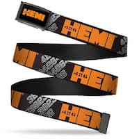 Hemi 426 Logo Fcg Black Orange  Chrome Hemi 426 Logo 392 426 Black Web Belt